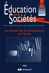 Couverture du numéro 15 de la revue Éducation et Sociétés