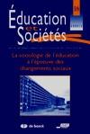 Couverture du numéro 16 d'Éducation et Sociétés