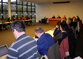 Les participants à la deuxième séance du séminaire sur le travail enseignant